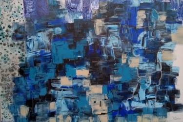 Spirituality Painting, acrylic, abstract, artwork by Pinkivioletblue ~ Pkvb
