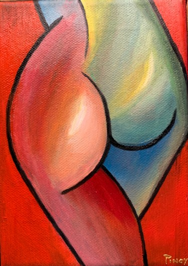 Feminine Painting, oil, abstract, artwork by Pinoy