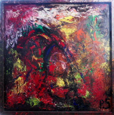 """Painting titled """"""""Covid-19"""""""" by Piotr Solecki, Original Art, Oil Mounted on Wood Panel"""