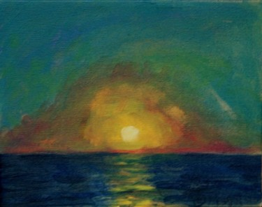 """Painting titled """"sunset"""" by Piotr, Original Art,"""
