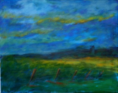 """Painting titled """"The field in Maine"""" by Piotr, Original Art,"""