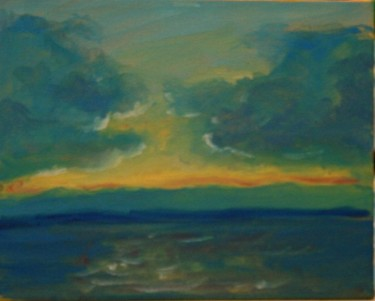 """Painting titled """"study of castle rock"""" by Piotr, Original Art,"""
