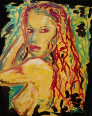 """Painting titled """"Girl with red hair"""" by Piotr, Original Art,"""