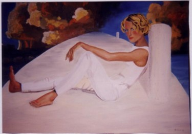 """Painting titled """"reclining figure # 1"""" by Piotr, Original Art,"""