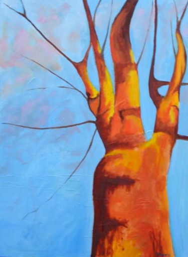 """Painting titled """"Carrot Tree #1"""" by Piotr, Original Art, Oil"""
