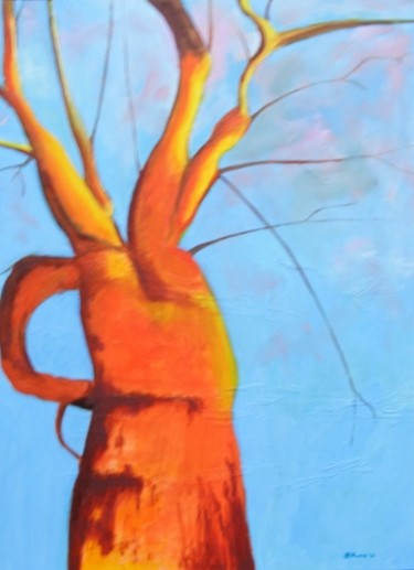 """Painting titled """"Carrot tree #2"""" by Piotr, Original Art, Oil"""