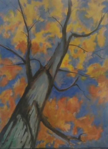"""Painting titled """"Electric Blue Dream…"""" by Piotr, Original Art, Oil"""