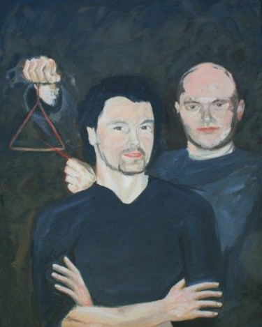 """Painting titled """"portrait with a tri…"""" by Piotr, Original Art,"""