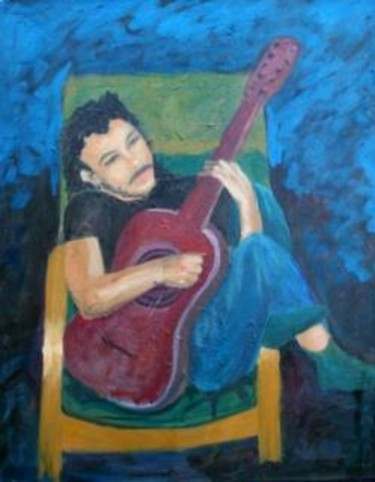 """Painting titled """"Guitar player"""" by Piotr, Original Art,"""