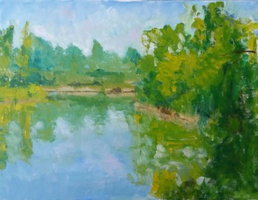 """Painting titled """"Painting surrounded…"""" by Piotr, Original Art, Oil"""