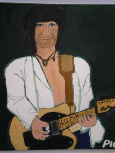 """Painting titled """"Keith Richards ( Ro…"""" by Piquereau Gilles, Original Art, Oil"""