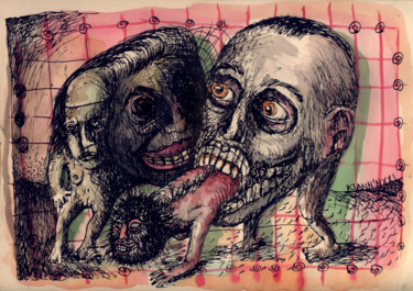 Drawing, ink, expressionism, artwork by Patrick Jannin