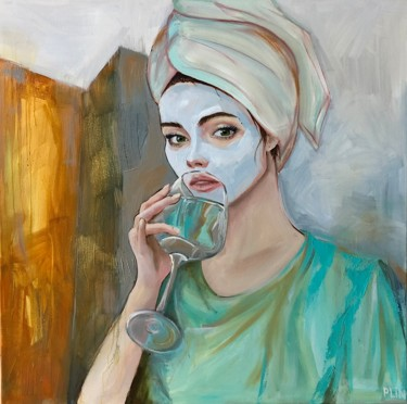 """Painting titled """"Contemporary"""" by Полина Куприянова, Original Art, Oil Mounted on Stretcher frame"""