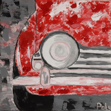 """Painting titled """"Travel (red gold le…"""" by Vera Polyachenko, Original Art, Acrylic"""