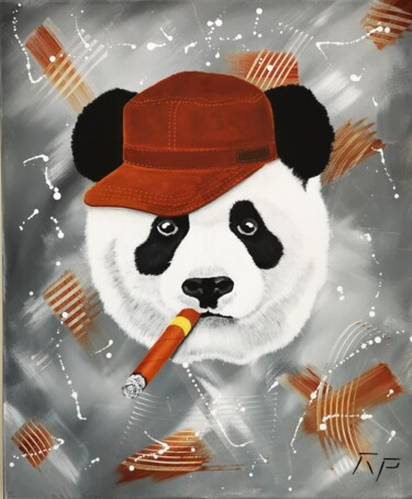 """Painting titled """"LORD PANDA"""" by Rp, Original Art, Acrylic"""