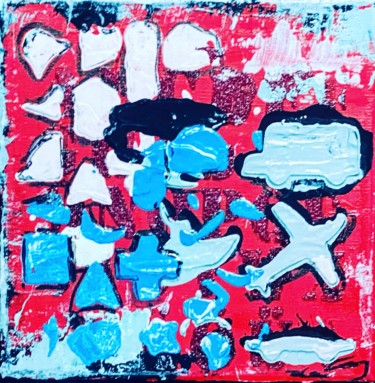 Abstract Painting, acrylic, pop art, artwork by Poptonicart
