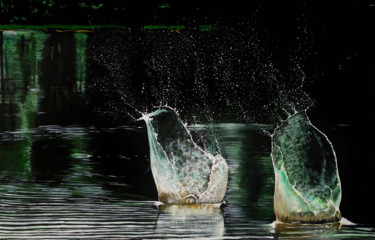 """Painting titled """"Water Vessels"""" by Prakash Mena, Original Art, Acrylic Mounted on Stretcher frame"""