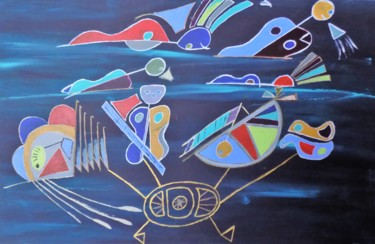 """Painting titled """"Submariners"""" by James Presley, Original Art, Acrylic"""