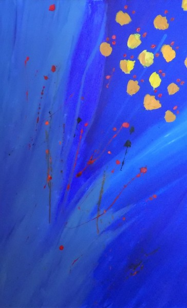 """Painting titled """"Flowers and Space B…"""" by James Presley, Original Art, Acrylic"""