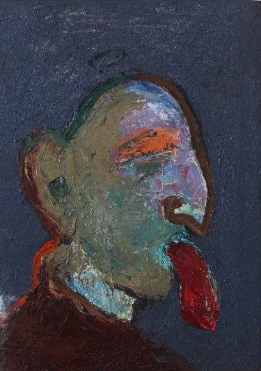 """Painting titled """"Peace of meat"""" by Qafar Rzayev, Original Art, Oil"""
