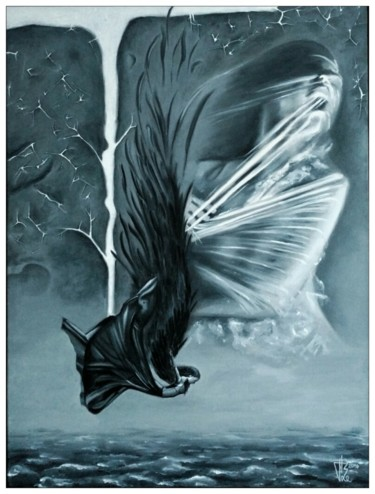 Painting, oil, surrealism, artwork by Raboeart