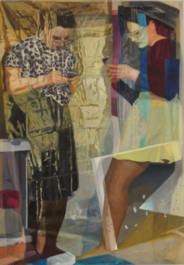 Everyday Life Painting, oil, expressionism, artwork by Rafal Labijak