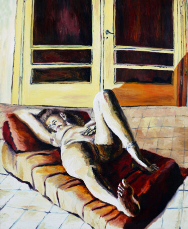 """Painting titled """"nude woman painting…"""" by Raphael Perez, Original Art, Oil"""