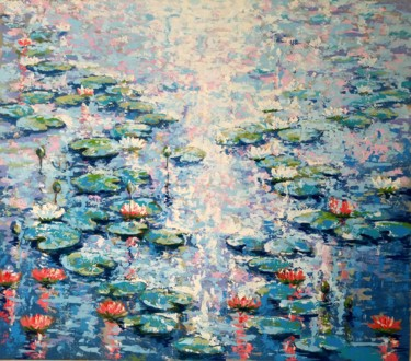 """Painting titled """"Water lily"""" by Rahmet, Original Art, Acrylic"""