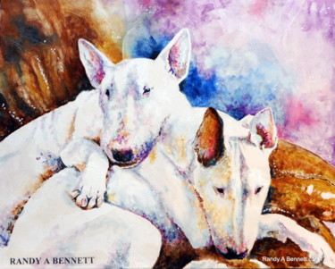 Bull Terrier Paintings Randy A Bennett Art - Bull terrier art