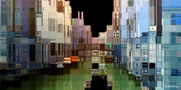 """Photography titled """"Venise canal tons b…"""" by Le Capricieux Photographe, Original Art, Manipulated Photography"""