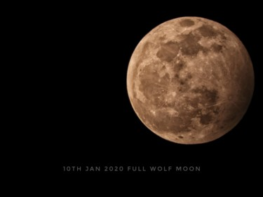 """Photography titled """"Wolf moon"""" by Ravid Wolff, Original Art, Digital Photography"""