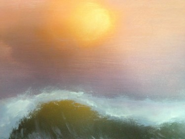 """Painting titled """"wave-rebecca-maness…"""" by Rebecca Maness, Original Art, Acrylic"""