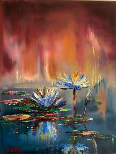 """Painting titled """"Oil abstract painti…"""" by Reda Pinchera, Original Art, Oil"""