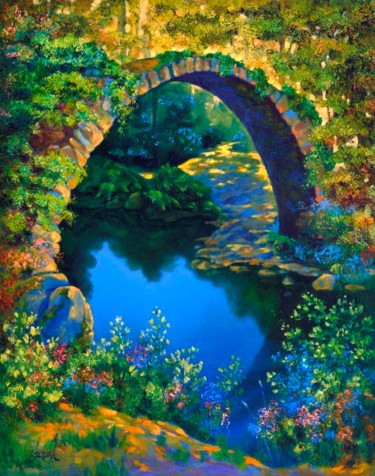 """Painting titled """"Paradise Arch. (Arc…"""" by Art -Lsedra, Original Art, Oil"""