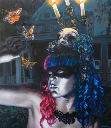 """Painting titled """"Queen for a Night"""" by Renee Brown, Original Art, Oil"""
