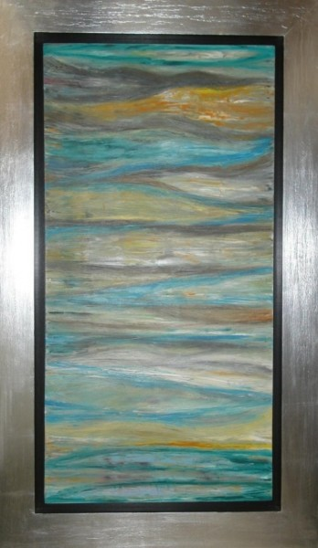 """Painting titled """"Mar turquesa_Cod128"""" by Renzo Campoverde, Original Art,"""