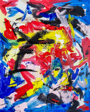 """Painting titled """"""""IRREBRESSIBLE"""" ABS…"""" by Retne, Original Art, Oil"""