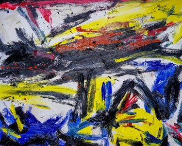 """Painting titled """"- Aloof - Abstract…"""" by Retne, Original Art, Oil"""