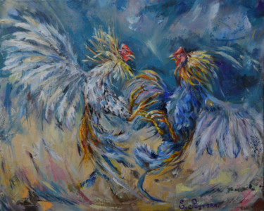 Bird Painting, oil, artwork by Elena Reutova