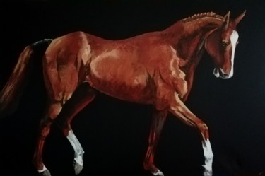 """Painting titled """"Cheval"""" by Raphael Fourneau, Original Art, Acrylic"""