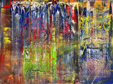 Painting, oil, abstract, artwork by Rico Mocellin