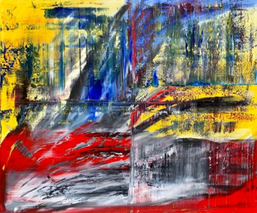 Abstract Painting, oil, expressionism, artwork by Rico Mocellin