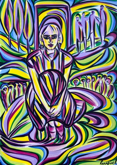 Painting, acrylic, expressionism, artwork by Riina Sirel