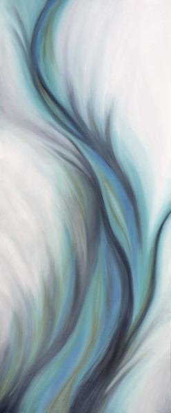 """Painting titled """"Rising Icicle"""" by Ritzi, Original Art, Oil"""