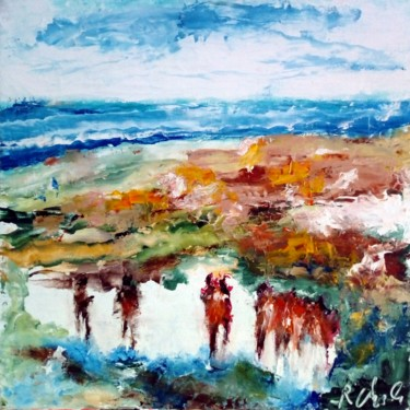 Landscape Painting, oil, expressionism, artwork by Robert Charles