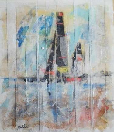 Boat Painting, acrylic, figurative, artwork by Artebalducci