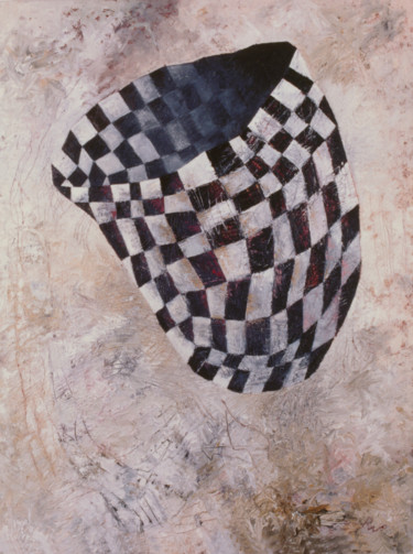 """Painting titled """"Checkered Vessel"""" by Robert Winslow, Original Art, Oil"""