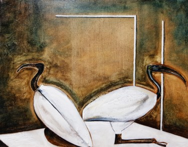 """Painting titled """"Ibis"""" by Karl Robial, Original Art, Oil"""