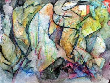 """Painting titled """"DANCING IN THE DARK"""" by Robin Mols, Original Art,"""