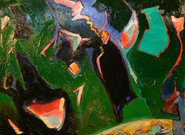 """Painting titled """"OVER EMERALD CITY """" by Robin Mols, Original Art,"""